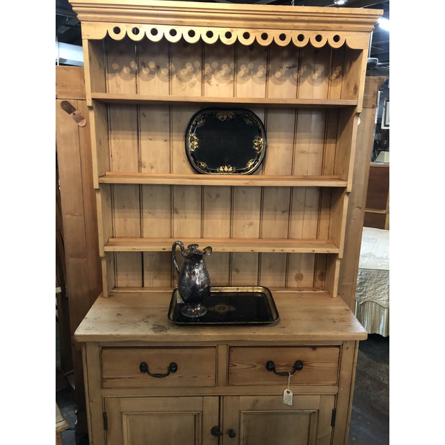 Antique Pine Welsh Display Cabinet For Sale - Image 11 of 12