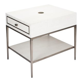 Bridford Side Table, Working White For Sale