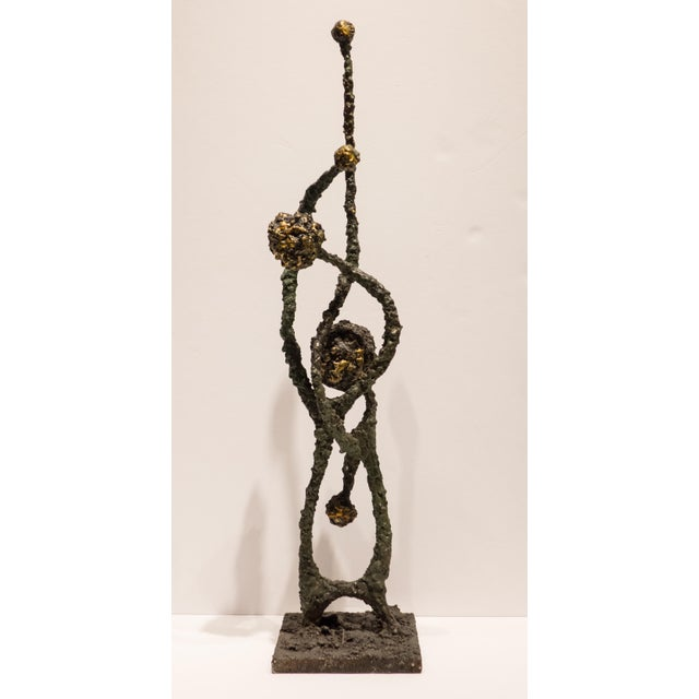 "Gold James Bearden Sculpture ""Deflection"" For Sale - Image 8 of 8"