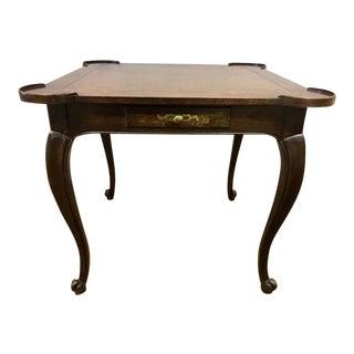 Baker Furniture Dark Walnut Game Table For Sale