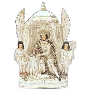 Antique King John Signing Magna Carta Figurine For Sale