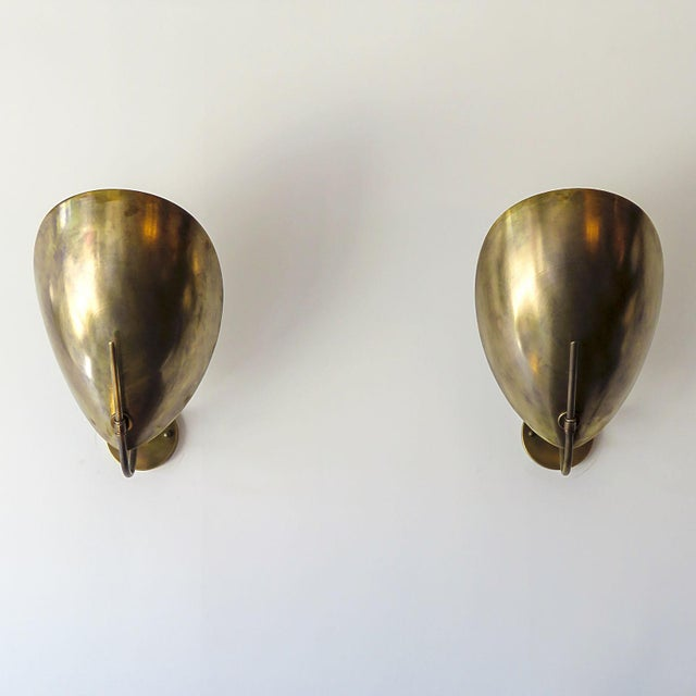 Brass Raw Brass Beetle Wall Lights For Sale - Image 8 of 11