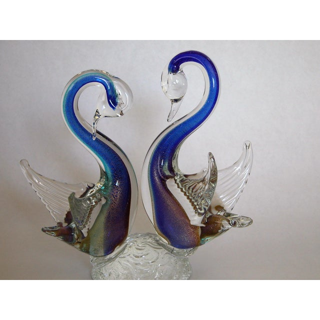 Signed Murano Art Glass Swans - Image 7 of 7