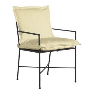 Summer Classics Italia Arm Chair in Pinstripe Mustard For Sale