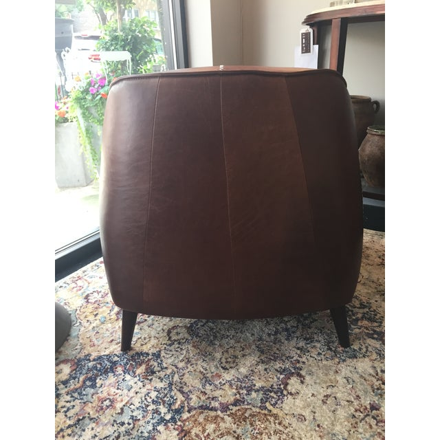 Classic Brown Leather Club Chair from Kenneth Ludwig Home For Sale In Los Angeles - Image 6 of 9