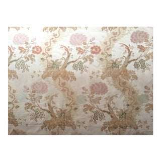 Scalamandre Style Louis XV Floral Scrolls Silk Brocade Fabric - 10 Yards For Sale