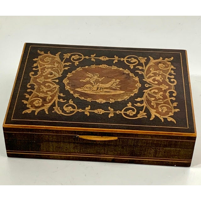 19th Century French Inlay Wooden Box For Sale - Image 11 of 13