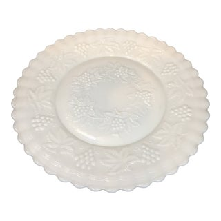 Vintage Imperial Milk Glass Cake Plate For Sale