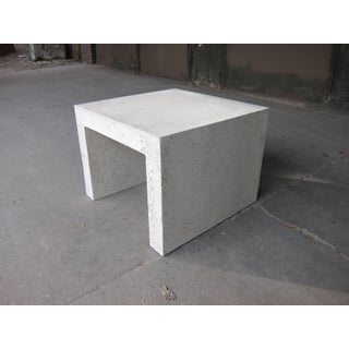 Cast Resin 'Lynne Tell' Side Table, Natural Stone Finish by Zachary A. Design Preview