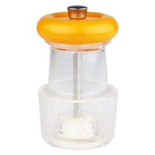 Mid-Century Modern Orange Plastic Cole & Mason Salt Grinder