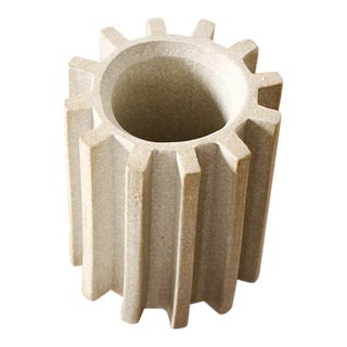 Stoneware Ceramic Modernist Pencil Holder