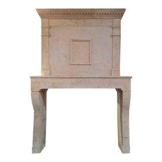 Louis XIV Limestone Mantel, circa 1780 For Sale
