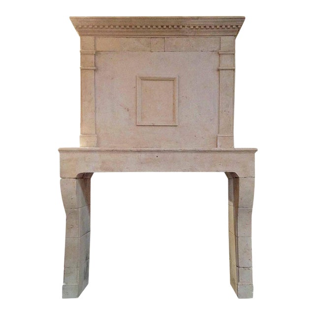 Louis XIV Limestone Mantel, circa 1780 For Sale