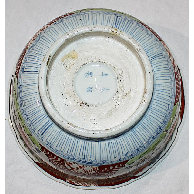 Antique Japanese Imari Bowl For Sale In West Palm - Image 6 of 6