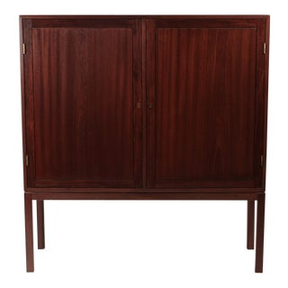 Scandinavian Modernist Mahogany Cabinet in the Manner of Ole Wanscher For Sale