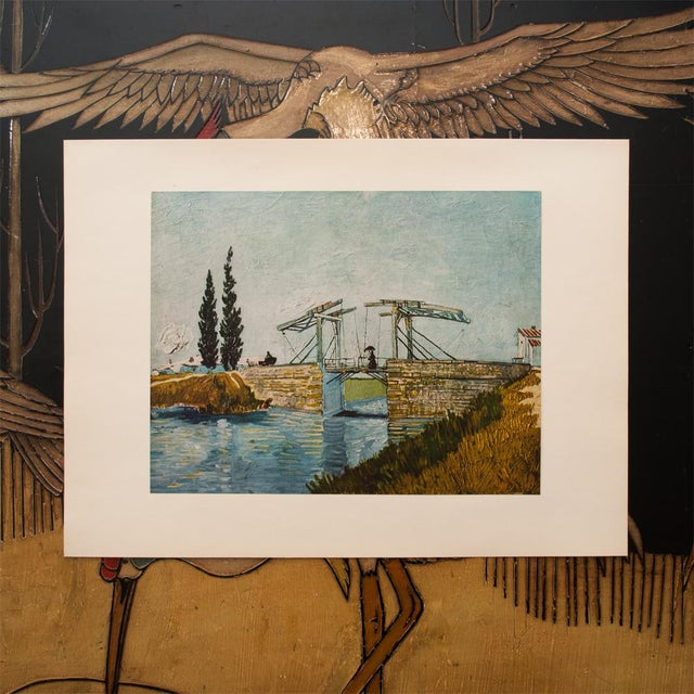"""Impressionism 1950s Van Gogh, First Edition Vintage Lithograph """"The Drawbridge"""" For Sale - Image 3 of 8"""