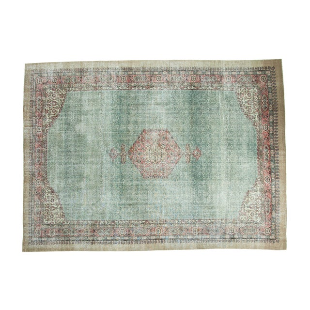 "Distressed Oushak Carpet - 8'6"" X 11'6"" - Image 1 of 10"