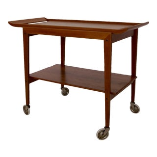 Peter Hvidt for Soborb Mobler Mid-Century Danish Modern Teak Bar Cart For Sale