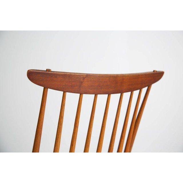"George Nakashima ""New"" Chairs, Set of Eight, Authenticated 1960s Production For Sale - Image 11 of 13"