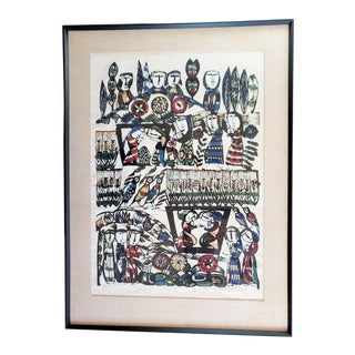 1966 'Story of Ruth' Signed Stencil Print by Sadao Watanabe For Sale
