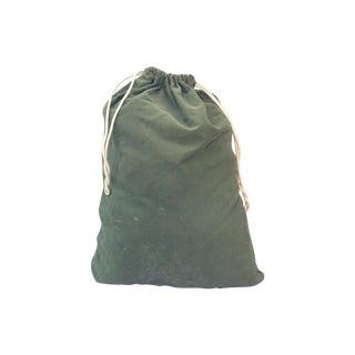 Vintage Dark Green Army Bag For Sale