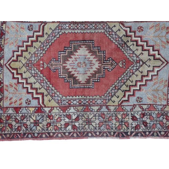 "Leon Banilivi Oushak Wool Rug- 3'7"" X 4'10"" - Image 4 of 5"