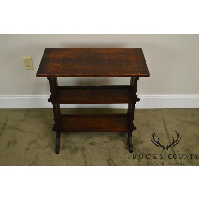 Roycroft Antique Mission Oak Little Journey's Book Stand For Sale - Image 11 of 13