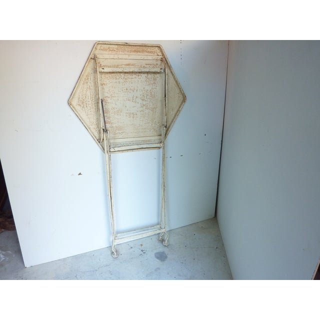 Painted Metal Folding Table For Sale - Image 4 of 6