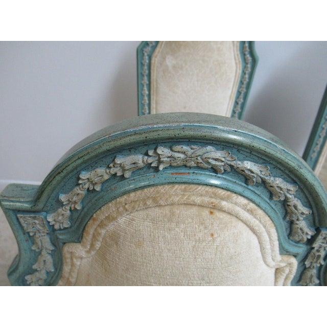 1970s Vintage Baker Furniture French Regency Dining Side Chairs - Set of 6 For Sale - Image 5 of 11