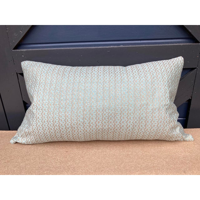 Fortuny Aqua Fortuny Tapa Pillow For Sale - Image 4 of 5