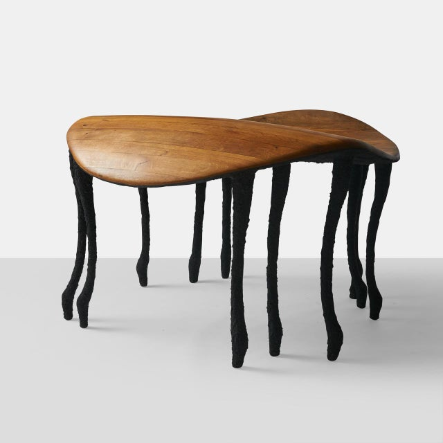 Wood Bended Center Table in Oak by Valentin Loellmann For Sale - Image 7 of 7