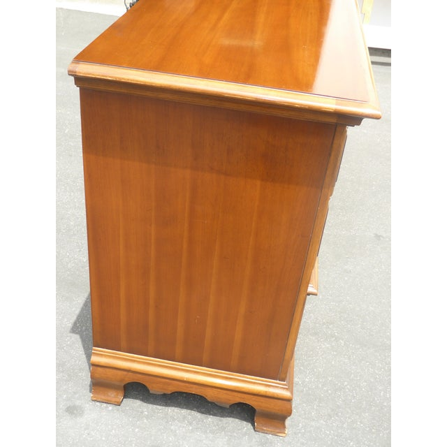 Vintage 1963 Kent Coffey French Provincial Cherry & Pecan Eight Drawer Dresser 1963 For Sale - Image 11 of 13