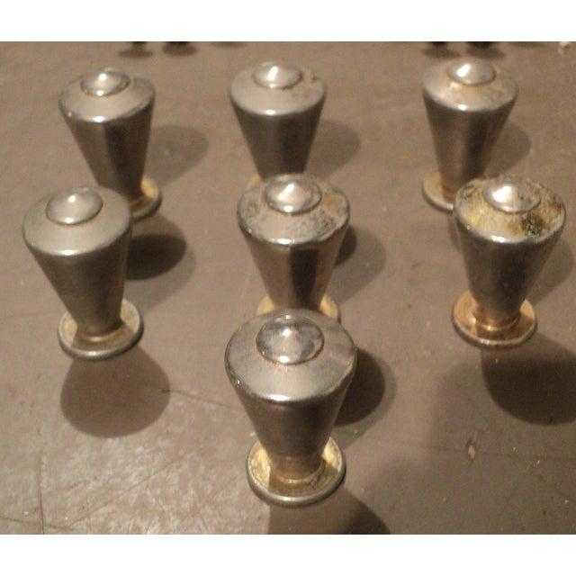 Metal Mid-Century Drawer Pulls Handles - S/7 - Image 3 of 4