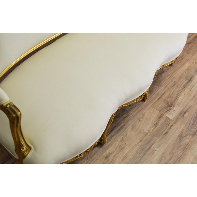 19th Century White and Gold Venetian Sofa - Image 8 of 10