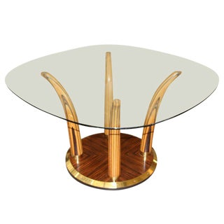 Exotic Wood Henredon Dining or Centre Hall Table For Sale