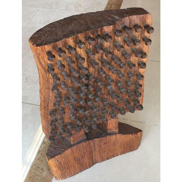 Mid-Century Brutalist Wood Sculpture - Image 5 of 8