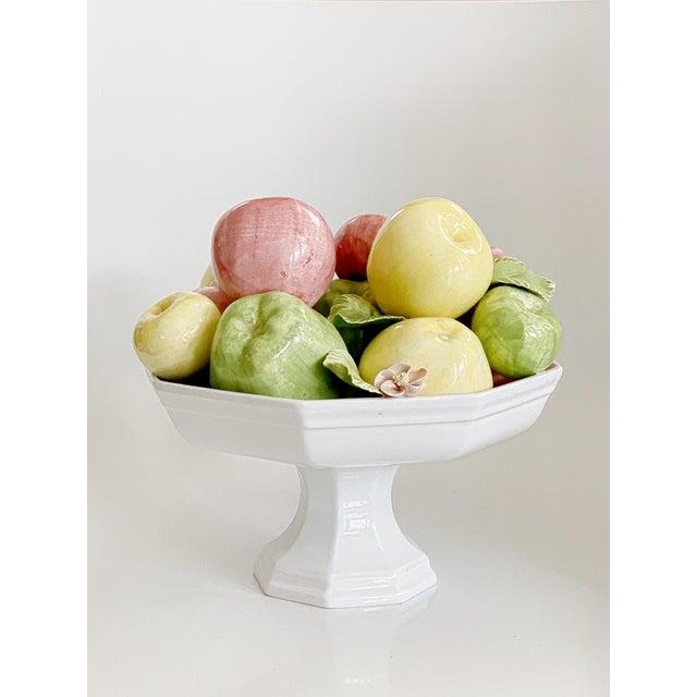 Ceramic Vintage Italian Majolica Ceramic Fruits Centerpiece Platter Pottery For Sale - Image 7 of 13