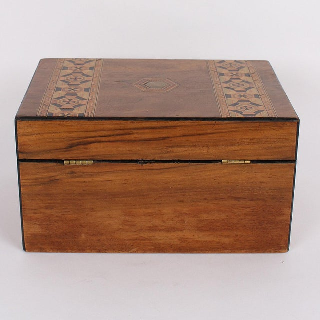 19th Century 19th C. English Box With Exquisite Marquetry For Sale - Image 5 of 11