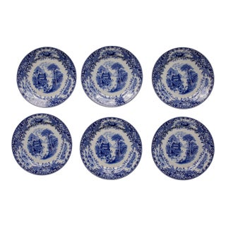 1920s Delft Blue and White Plates from Royal Sphinx - Set of 6 For Sale