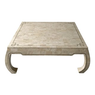 Greek Style Bone Tile Coffee Table For Sale