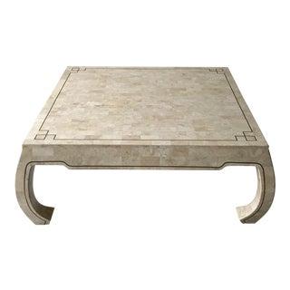 Greek Style Bone Tile Coffee Table