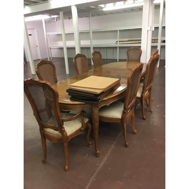 french country dining room set. Vintage Thomasville French Court Dining Table  Chairs Set of 9 Image 5
