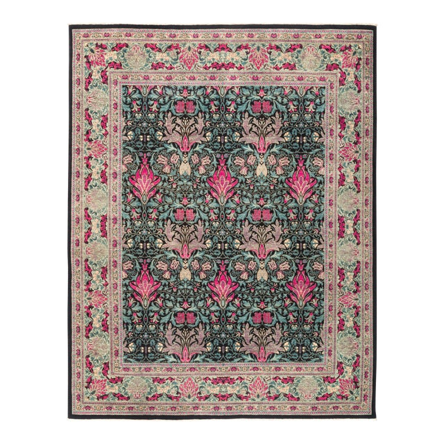 """Eclectic Hand Knotted Area Rug - 8' 1"""" X 10' 3"""" - Image 1 of 4"""