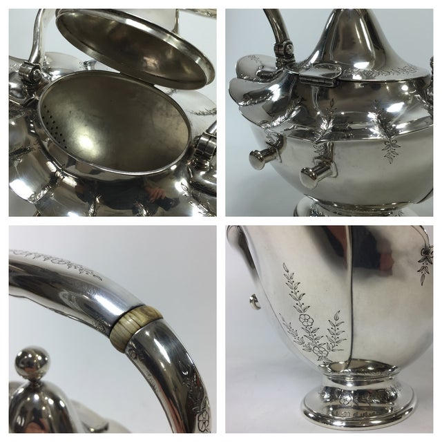 Tiffany & Co. Antique Sterling Silver Tea Pot - Image 7 of 11