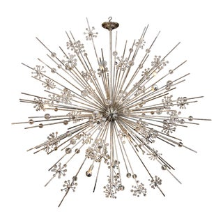 Huge Custom crystal Starburst Sputnik Chandelier For Sale