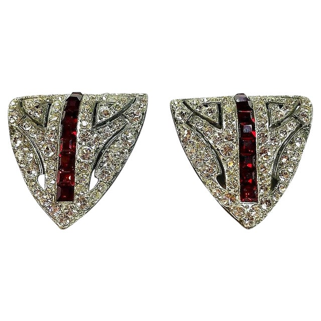 1930s Duet Brooch/Dress Clips For Sale