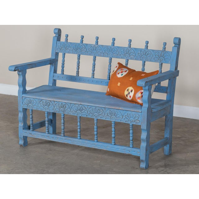 Antique French Painted Bench circa 1890 For Sale In Houston - Image 6 of 9
