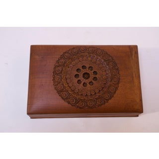 Vintage Hand-Carved Cedar 'Lock' / Trick Cigar Box / Decorative Box Preview