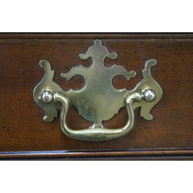 Brown Kittinger Colonial Williamsburg Adaptation Mahogany Chippendale Writing Desk For Sale - Image 8 of 10