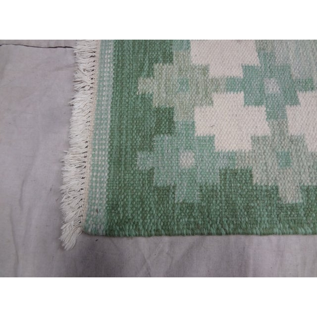 "This is a hand made Swedish flat weave rug. Signed ""IS"" Ingegerd Silow. I found this rug at an Estate auction in Leksand,..."